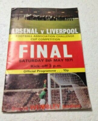 £5.99 • Buy FA Cup Final 1971 Arsenal FC V Liverpool FC MATCH PROGRAMME