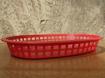 £6 • Buy 3 Red Plastic Food Baskets Great For Burgers Fries Hot Dogs And More