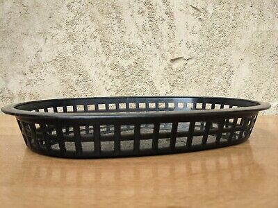 £6 • Buy 3 Black Plastic Food Baskets Great For Burgers Fries Hot Dogs And More