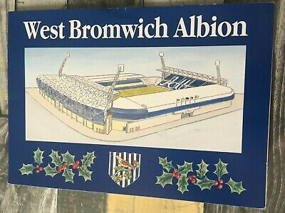 £4.50 • Buy West Brom WBA Bromwich Albion 1990s Christmas Card Signed By 5 Club Officials