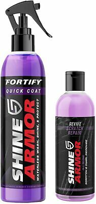 $49.98 • Buy SHINE ARMOR Fortify Quick Coat & Revive Scratch Repair, Pack Of 2