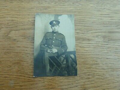 £3.99 • Buy Ww1 Original 1918 Photo Postcard Young Middlesex Regt Soldier Cut Down 4 X 3