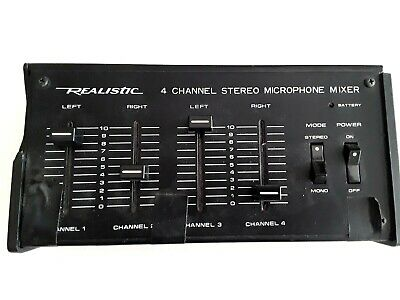 £7.26 • Buy Radio Shack Realistic 32-1105 4-Channel Stereo Microphone Mixer Used