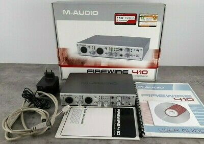 $79 • Buy M-AUDIO Firewire 410 Audio Interface With Box, Cables, Power Supply, Cd, Manual