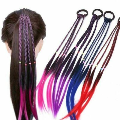 $ CDN7.13 • Buy Hair Girls Colorful Wigs Ponytail Ornament Headbands Rubber Beauty Accessories