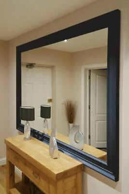 £99 • Buy Extra Large Mirror Melbury Black Wall / Leaner Mirror 244x122 CM - Free Delivery