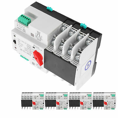 £30.15 • Buy Automatic Transfer Switch Din Rail Mounted 3Phase 4Wire Power Control 400V