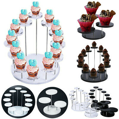 £9.49 • Buy Acrylic Cupcake Stand Jewelry Cake Dessert Display Stand Rack Party Decor Holder