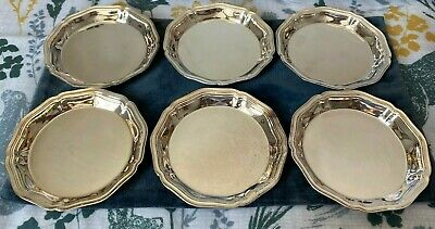 £80 • Buy Christofle Silver Plated Set Of 6 Butter Dishes - Chinon Pattern