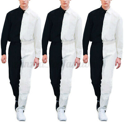 $31.23 • Buy Men Fashion Cargo Long Sleeve Jumpsuits Workwear Pants Loose Rompers Overalls US