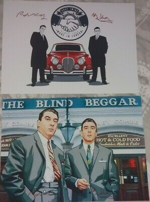 £4.50 • Buy The Krays Pictures. Signed. Art Style Prints. Kray Twins. Crime. Free Uk Post.