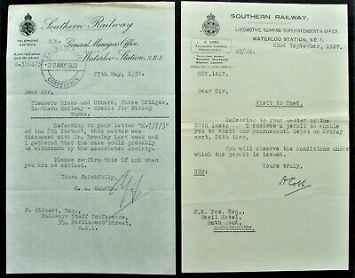 £2.30 • Buy 1930/37 Southern Railway Letters Visit Bournemouth Depot Firing  Turns