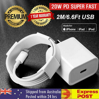 AU19.99 • Buy For IPhone 12 11 Pro Max IPad 20W USB Type-C Wall Adapter Fast Charger PD Power