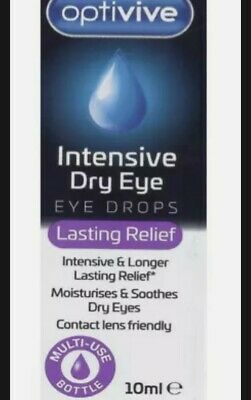 £3.80 • Buy Optivive Intensive Dry Eye Drops Lasting Relief Contact Lenses Friendly
