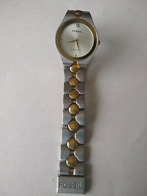 $15 • Buy Fossil Arkitekt Watch FS-2787 Stainless Steel Water Resistant For Parts Only