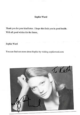£9 • Buy Sophie Ward Hand Signed Photo Heartbeat Holby Peak  Lynley Ins Doctors & Letter