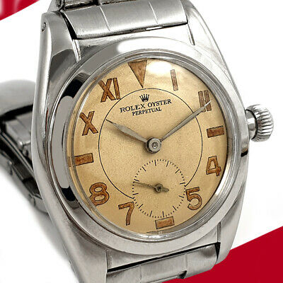 $ CDN5602.72 • Buy Rare Vintage Rolex Oyster Automatic Bubbleback Watch Sub Seconds Dial Working