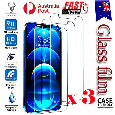 AU5.48 • Buy 3X Tempered Glass Screen Protector For IPhone 12 Mini 11 Pro XR XS Max 7 8 Plus