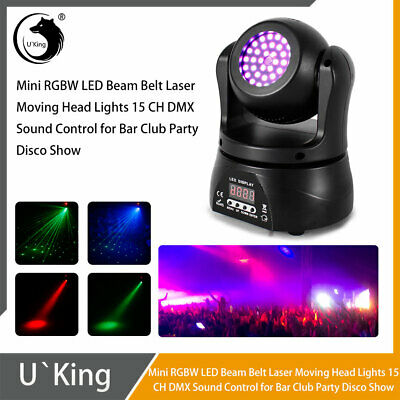£47.99 • Buy 50W Double Sides LED Moving Head RGB Beam+Laser Stage Lighting DMX Disco Party