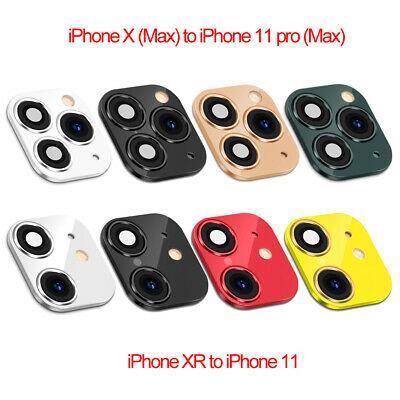 £4.19 • Buy Fake Camera Lens Sticker Cover Screen Protector For IPhone XR X Change To IPhone