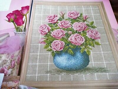 £2.50 • Buy Cross Stitch Chart Mary Hickmott Pink Rose Bouquet Flowers Chart
