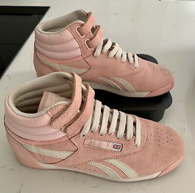 £25 • Buy REEBOK Classic Freestyle Hi Fitness Trainer Boot Pink Size 4 MRRP £84.99