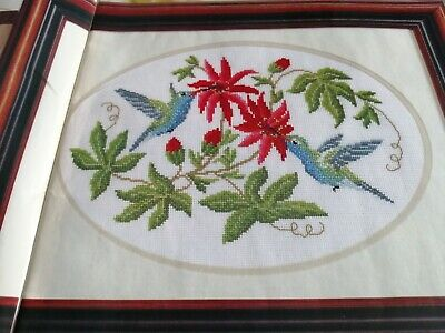 £1.99 • Buy Cross Stitch Chart Hummingbirds Among The Flowers  Charts Only Bird Floral