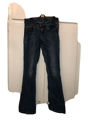 £10 • Buy Dorothy Perkins 10 Flare Jeans Pretty Green Button Comfy Denim Lightweight