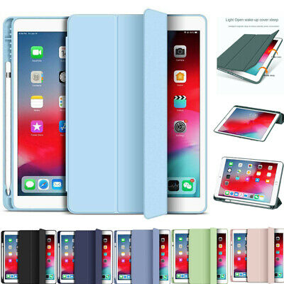 AU21.69 • Buy For IPad 5/6/7/8th Gen Air 3 4 Pro 11 Mini 5 Leather Case Cover With Pen Holder