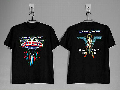 $16.69 • Buy Vinnie Vincent Invasion 1986- 87 T Shirt SIZE USA Rock Kiss Band Full Size