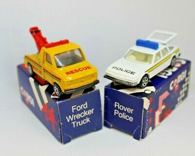 £12.99 • Buy Corgi Cars In Own Boxes  Rover Police Car And Ford Wrecker Truck 1985