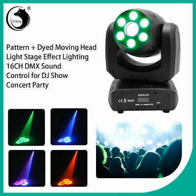 £89.99 • Buy 100W Pattern Dyed LED Moving Head Light Stage Lighting 16CH DMX DJ Show Concert