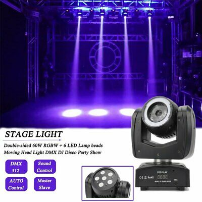 £79.99 • Buy 120W RGBW Beam Dyed Double-sided LED Moving Head Light DJ Disco DMX Stage Light