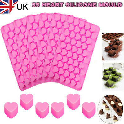 £2.37 • Buy 55 Wax Melt Mould Sweet Hearts Silicone Chocolate Mold Baking Valentine Jelly