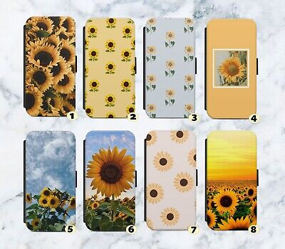 £10.99 • Buy Sunflower Sunflowers Floral Faux Leather Flip Case Wallet For IPhone Samsung G97