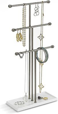 £21.28 • Buy Trigem Hanging Stand Organizer 3 Tier Extra Tall Tabletop Jewelry Necklace Hol
