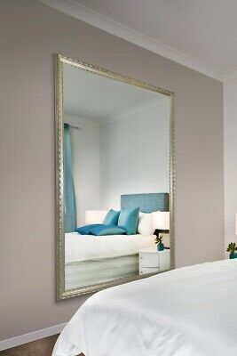 £65 • Buy Large Mirror Florence Antique Italian Silver Wood Leaner/Wall Mirror 195 X 133cm