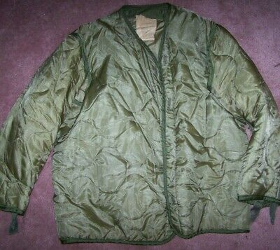 $7 • Buy M65 Field Jacket Liner, Od Green, Small, U.s. Issue *nice*