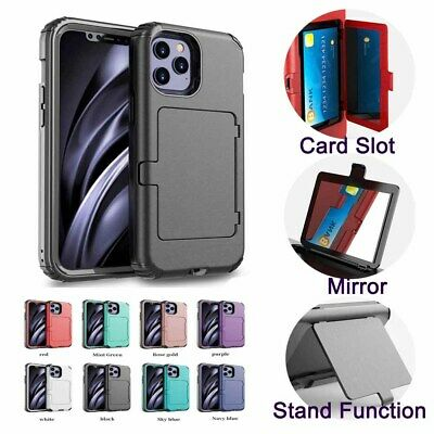 AU7.99 • Buy Built-in Mirror Case With Card Holder For IPhone 6 7 8 Plus X XS SE XR 11 12 Pro