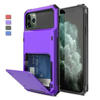 AU8.89 • Buy Hybrid Card Wallet Holder Hard Case Cover For IPhone 12 Pro Max 11 XR XS X 6 7 8