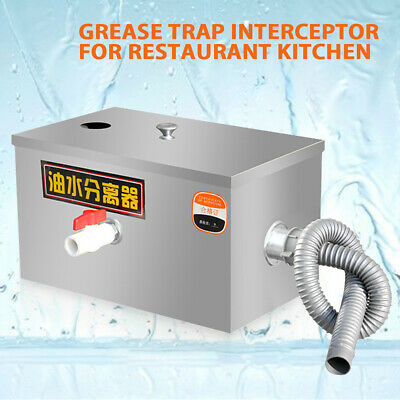 £59.44 • Buy Oil Water Separator Grease Trap Waste Interceptor Kitchen Equipment Commercial
