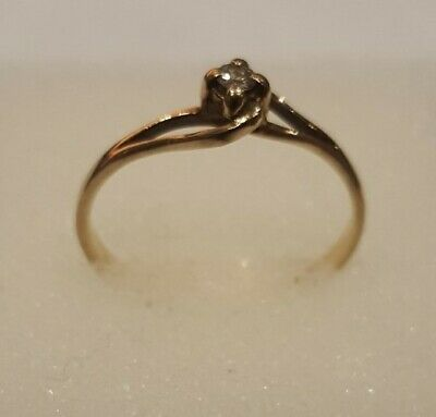 AU95 • Buy 9K Yellow Gold And Diamond Dress Ring Size L Stamped 9K