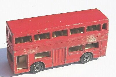 $ CDN9.08 • Buy Lesney Matchbox THE LONDONER Bus No Decals Double Decker 1972 Superfast Red 17