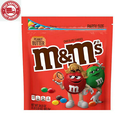 $14.21 • Buy M&M'S Peanut Butter Chocolate Candy Party Size 34 Ounce Bag