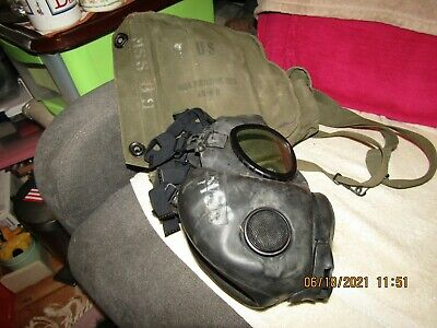 $35.95 • Buy US Military ABC-M 17 Personnel Gas Mask W/storage Pouch/bag.