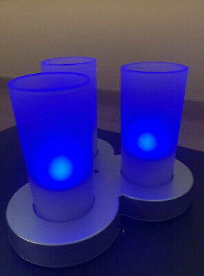 £30.99 • Buy Philips Imageo Rechargeable Blue Candlelights With Charging Station
