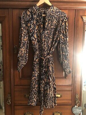 £16 • Buy Reiss Blue And Orange Printed Dress, Size 10