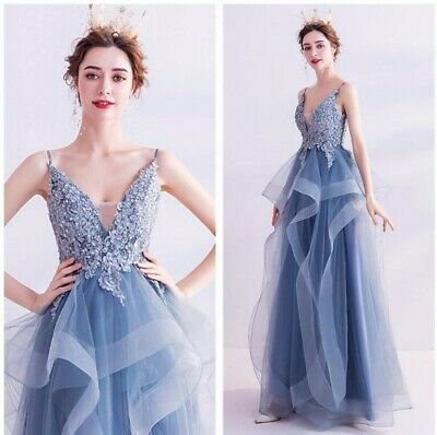 £87.15 • Buy Fairy Princess Prom Ball Gown Evening Cocktail Dress V Neck Women Party