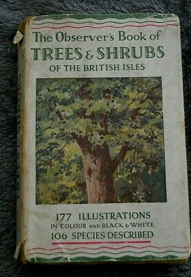 £5.99 • Buy OBSERVERS BOOK Of TREES And SHRUBS - 1ST EDITION With Dust Cover.