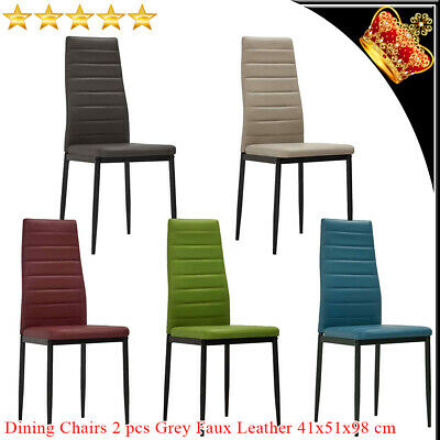 AU86.69 • Buy 2x Dining Chairs Faux Leather Steel Dinner Room Kitchen Restaurant Seating Chair